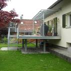 Vordach mit Terrasse